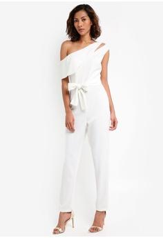 8e84d1b6353 78% OFF Lavish Alice One Shoulder Asymmetric Jumpsuit with Tie Belt S   163.90 NOW S  35.90 Sizes 10