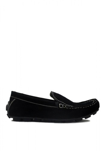D-Island black D-Island Shoes Moccasine Slip On Lacoste Suede Hitam DI594SH42MORID_1