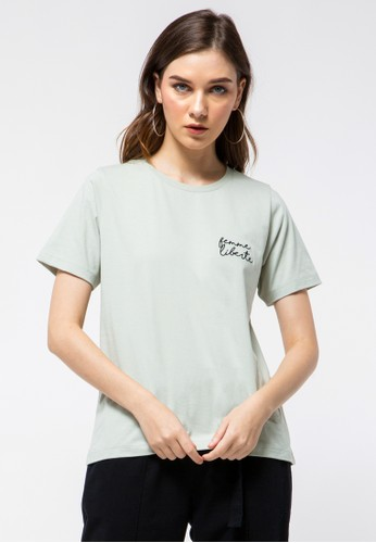 et cetera green Printed T-shirt CB70BAA3921CC9GS_1