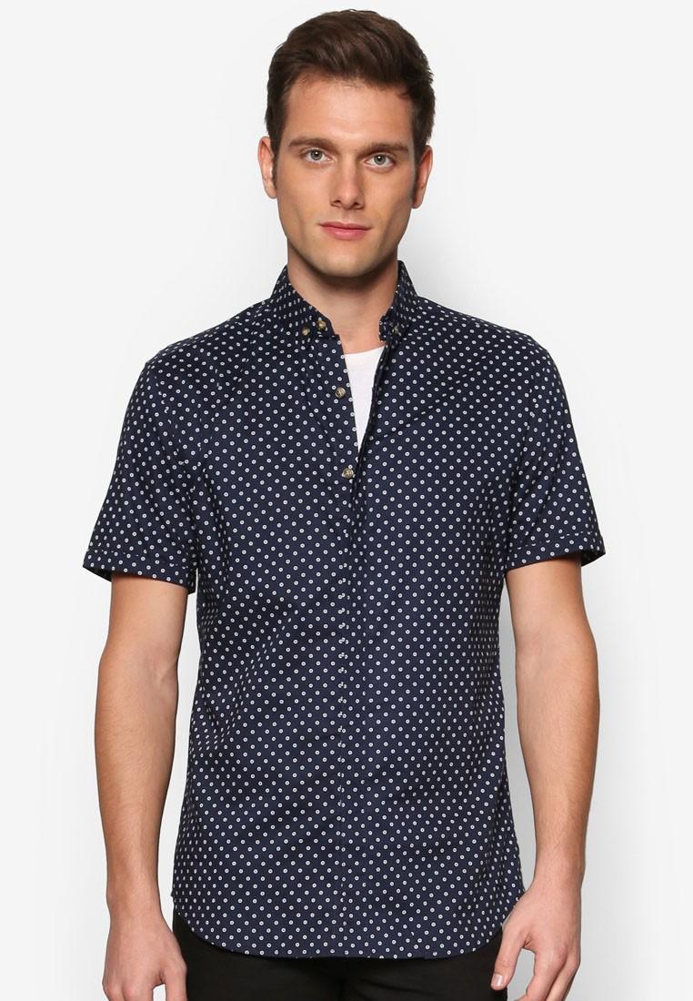 AOP Chambray Short Sleeve Shirt