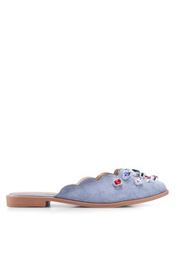 NOVENI blue Bejewelled Slippers A9A5CSH07E3BF5GS_1