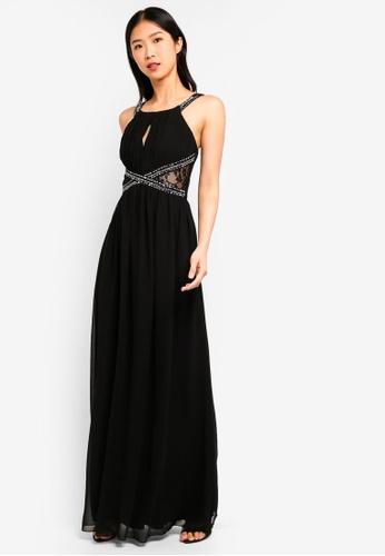 96b60fbcce8 Shop Little Mistress Black Empire Maxi Dress Online on ZALORA Philippines