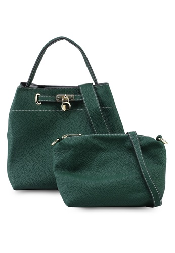 Swiss Polo 2 In 1 Faux Leather Handbag