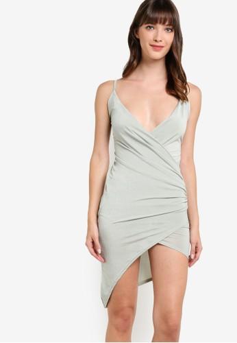 裹式esprit門市地址懸墜裙擺迷你背心裙, 服飾, 洋裝