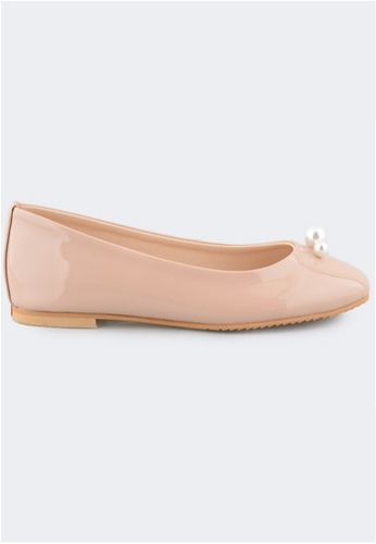 Crystal Korea Fashion pink Korean Made Pearl Decorative Flat Shoes 8BA92SHA18E7BDGS_1