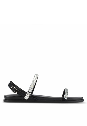 VINCCI black Strappy Sandals D2157SHEDE4A47GS_1