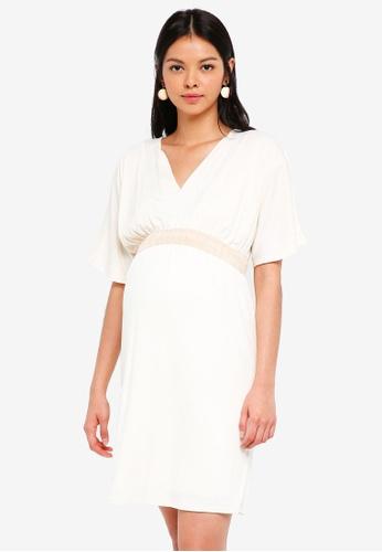 Envie De Fraise beige Maternity Felicia Dress B2FE3AA9E377ACGS_1