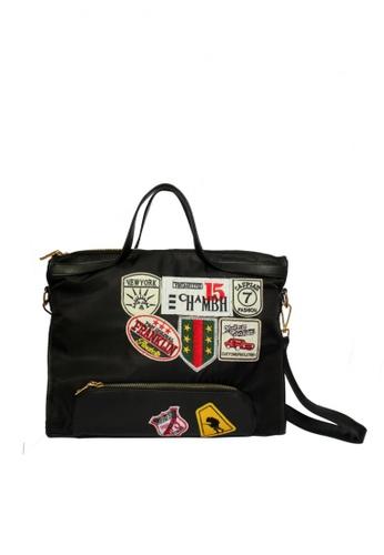 GreyPlus black Elyn Wang Patchwork Bag GR720AC49CUWSG_1