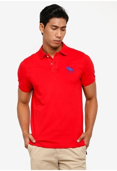 d47944d70df2e0 Abercrombie & Fitch red Exploded Polo Shirt DACACAA282FBBAGS_1