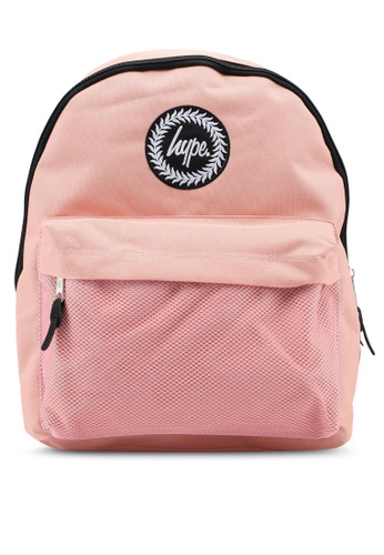 Just Hype pink Mesh Pocket Backpack 70A89AC9DCC9AAGS_1