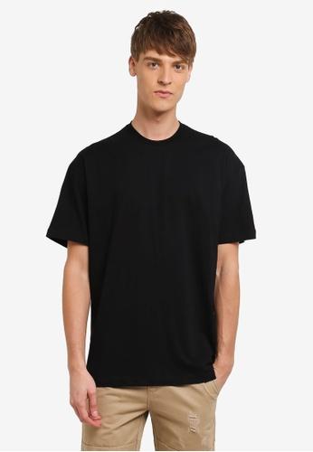 Flesh IMP 黑色 Sided Wings Oversized T-shirt FL064AA0RNA8MY_1