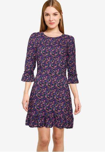 Miss Selfridge purple Purple Ditsy Print Frill Hem Dress E0BC4AA9FCD4BEGS_1