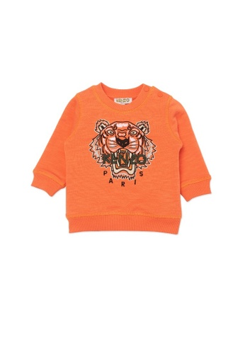 KENZO KIDS orange KENZO TIGER BABY BOYS SWEATSHIRT 764C3KA37A8FC2GS_1