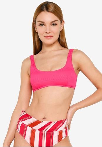 H&M red and pink Padded Bikini Top F7A80US8F1A072GS_1