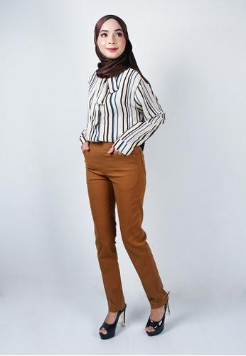 Ladies Jeans brown Muslimah Stylish Long Pants 8393DAA58FDBAFGS_1