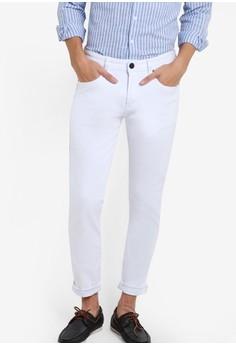 【ZALORA】 休閒窄管牛仔褲