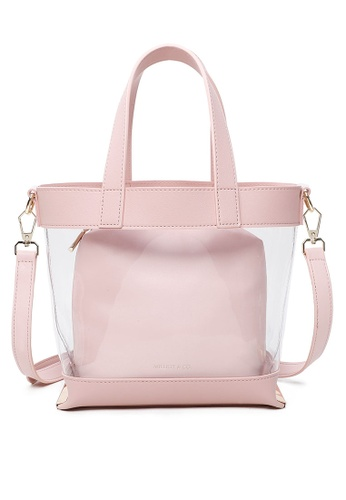 Milliot & Co. pink Hannah Totes Bags 90D3EAC002553EGS_1