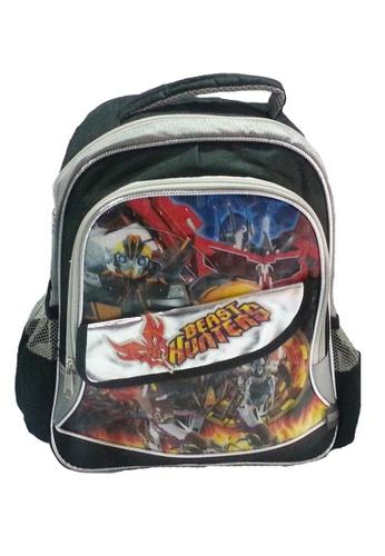 Transformers black and silver Transformers Beast Hunters Pre-School Bag 892D9KCC1D2BDFGS_1