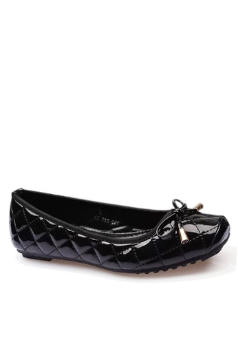 Twenty Eight Shoes black Comfort Rhombic Stitching Ballerinas  VL309720 F6DB7SH58D0E1BGS_1
