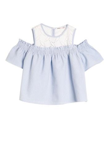 KOTON blue Short Sleeve Blouse D87CDKA167B365GS_1