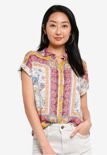 Desigual pink Pattern Printed Short Sleeves Shirt 3D1D9AA0CA04F5GS_1