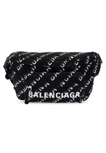 Balenciaga black Balenciaga Wheel Waist Bag in Black/White for UNISEX E4999AC88E2BAFGS_1