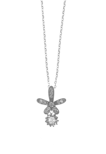 The LoveMark silver Alluring Flower Silver Necklace TH516AC56XQPPH_1