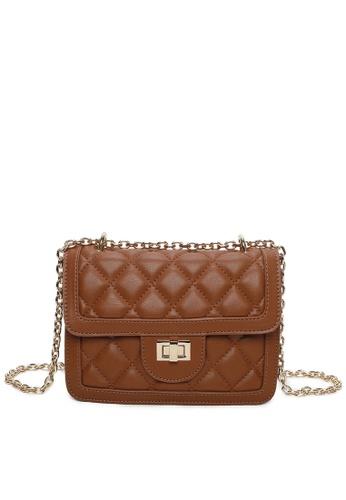 Milliot & Co. brown Trista Sling Bag A20E0AC07FF66AGS_1