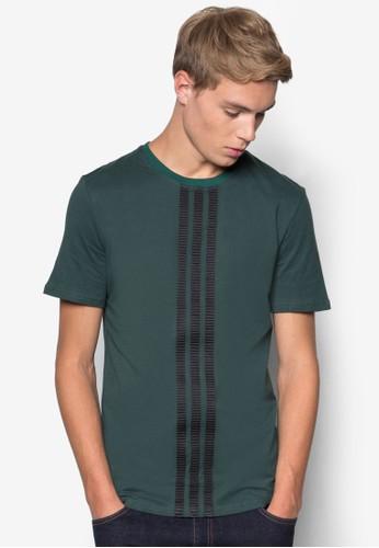 羅緞拼接短袖Tesprit 手錶EE, 服飾, T恤