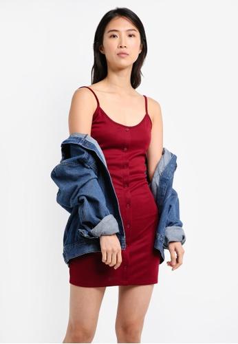 b7c1bf8c2d0d Buy ZALORA BASICS Essential Button Front Cami Dress Online | ZALORA ...