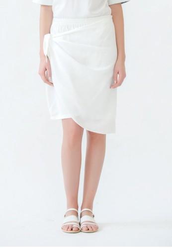 Olin's Closet Flare Skort In White