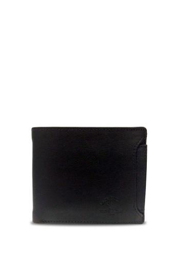Santa Barbara Polo & Racquet black Santa Barbara Polo & Racquet Club Leather Bifold Wallet with Additional Card Holders 7C57FACFF7F8F4GS_1