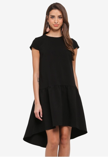 River Island black Layered Swing Dress 2BE3CAA627AFE8GS_1