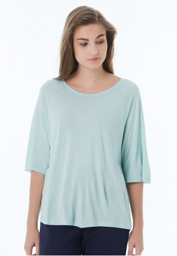 United Colors of Benetton green Wide T-shirt 84239AAAA42A1DGS_1