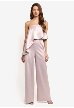 81e77d40c51 Psst... we have already received your request. MISSGUIDED. Peace + Love  Bandeau Satin Frill Jumpsuit