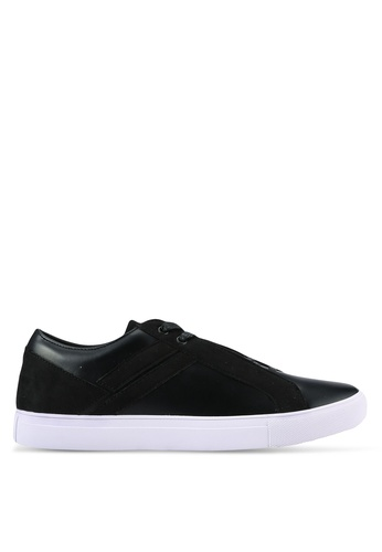 ZALORA black Contemporary Mixed Materials Sneakers 063A6SH544BDE6GS_1