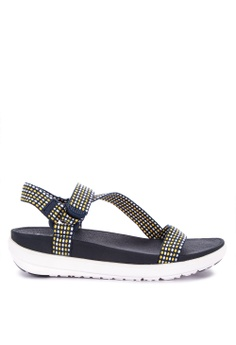 3f924baf7 Fitflop blue and gold Z-Strap Sandals 0E8E7SHBC7A9E3GS 1