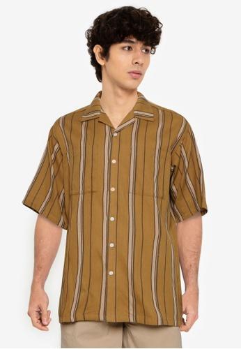 RAGEBLUE yellow Woven Shirt 1BC6AAA221A226GS_1