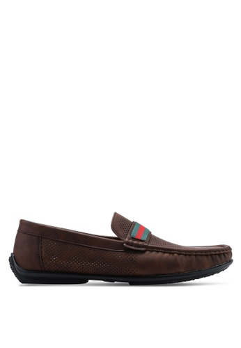 Louis Cuppers brown Breath Loafers DD232SH0A4F764GS_1