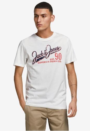 Jack & Jones white Logo O-Neck Short Sleeve Tee 7B9B2AAC973C14GS_1