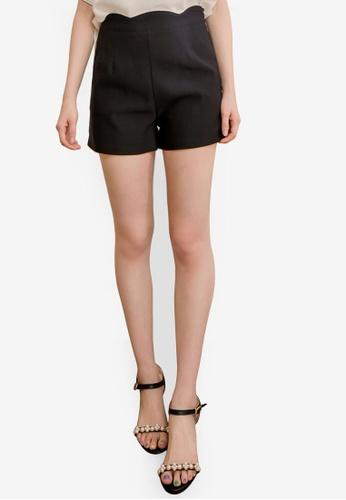 Eyescream black High Scallop Waist Shorts D3811AA76AF719GS_1