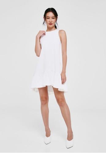 Love, Bonito white Marie Tie Back Swing Dress E16B3AABCADBACGS_1