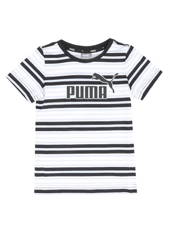 PUMA black Essentials Stripe Boys' Tee 3D651KA8C32575GS_1