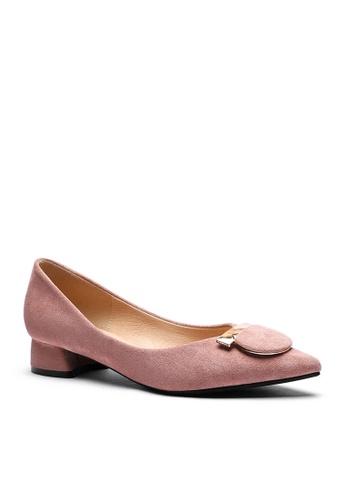 Twenty Eight Shoes 粉紅色 2.5CM 尖頭仿皮低踭鞋333-57 83C21SHD3F1051GS_1