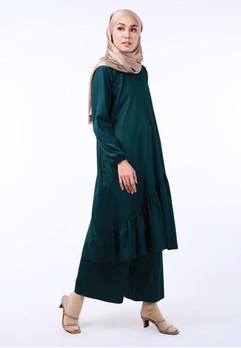 Inhanna green PUSPA Tunik Labuh Dark Green DFC4FAA92CD410GS_1