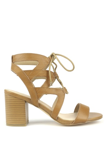 Betts brown Gypsy Leather Cut Out Lace Up Sandals C40CDSH527CC7BGS_1