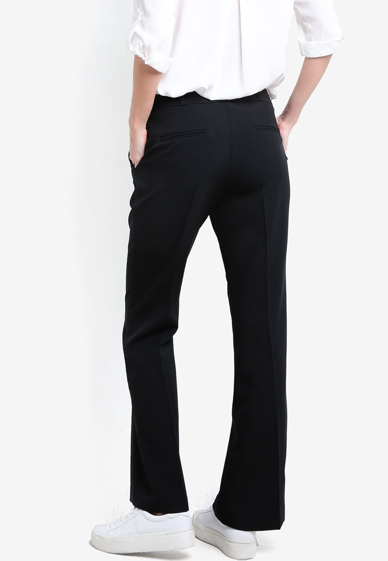Dorothy Black Trousers Black Bootcut Regular Length Poly Perkins 7ar0q7