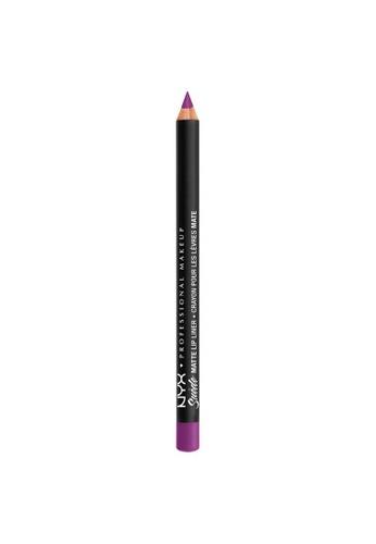 NYX Professional Makeup purple NYX Professional Makeup Suede Matte Lip Liner - SMLL 65 -STFU 24ADFBEAC13F84GS_1