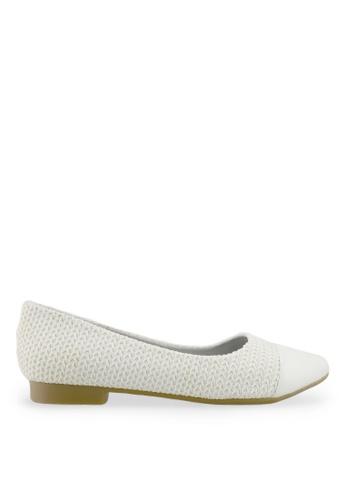 Footspot white FOOTSPOT - Pointed Toe Flats FO296SH2V7YKHK_1