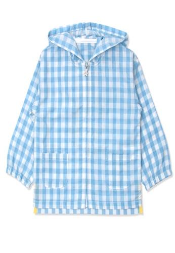 Organic mom blue Organic Cotton Sunny Grid Thin Coat 628ADKA21888F5GS_1
